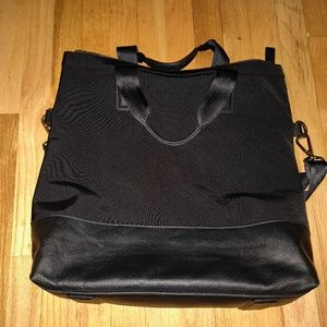 Karter nylon and leather tote
